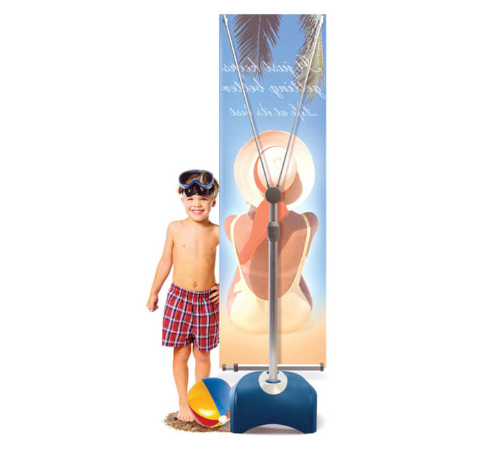 outdoor x-stand banner stand