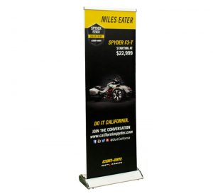 wing retractable banner stand