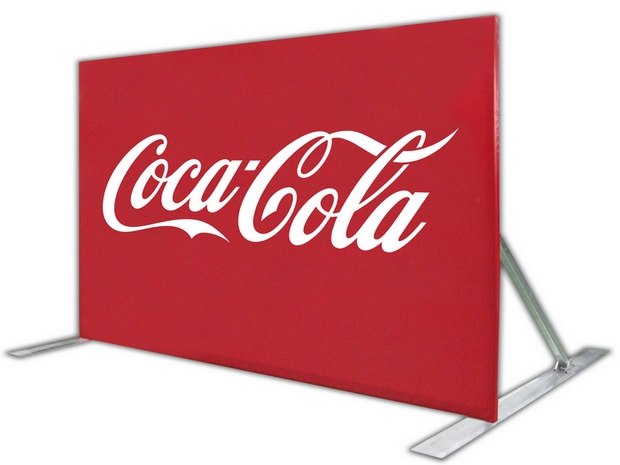 outdoor media wall with cocal cola logo