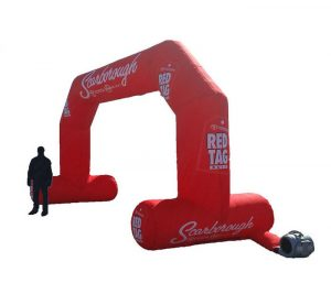 Custom-branded Toyota Inflatable Arch, promoting the Red Tag promotion for a dealership in Scarborough, Ontario.