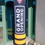 Custom-branded Inflatable Totems, promoting the Grand Opening of a new Canadian Tire store.