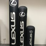 Custom-branded Inflatable Totems, promoting Lexus.