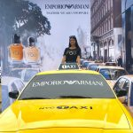 FabGraphics Outdoor Media Wall built and printed by PNH Solutions for an Emporio Armani brand activation