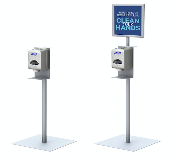Automatic Hand Sanitizer Display Stand