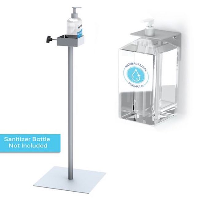 Manual Pump Hand Sanitizer Dispenser Stand