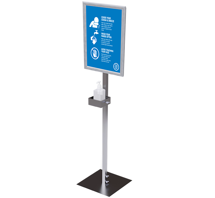 Manual Pump Hand Sanitizer Dispenser Stand